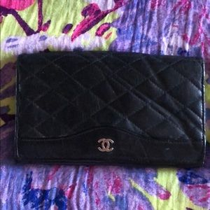 Authentic Chanel Leather Wallet or Clutch